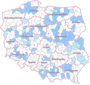 O skutecznej informatyzacji narad koordynacyjnych na webinarium GUGiK <br /> Stan informatyzacji narad (źródło: Geoportal)