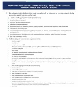Rada Geodezyjna o zmianach w EGiB, zawodzie geodety i funduszach europejskich <br /> Fragment prezentacji P. Hanusa
