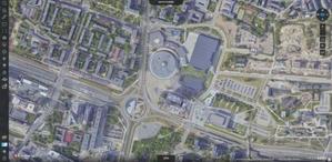 Katowice na zdjęciach lotniczych i modelach 3D <br /> Prawdziwa ortofotomapa