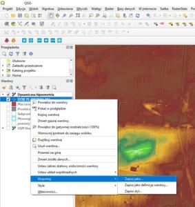GUGiK udostępnia numeryczny model terenu przez WCS <br /> Eksport NMT przez WCS w aplikacji QGIS