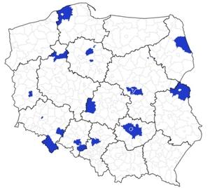 Rusza aktualizacja BDOT10k w 22 powiatach <br /> Powiaty objęte podpisanymi właśnie umowami