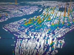 Bentley Systems ogłasza przejęcie INRO, specjalistę od symulacji ruchu <br /> Obraz wyprodukowany za pomocą CityPhi przy użyciu danych z www.andresmh.com/nyctaxitrips/