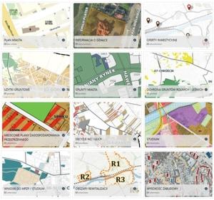 Gorzów Wielkopolski: wszystkie dane przestrzenne w zasięgu kliknięcia <br /> Wybrane dostępne kompozycje mapowe