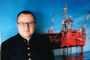 W kopalni na pełnym morzu <br /> Andrzej Słaby - mierniczy górniczy i hydrograf kategorii A