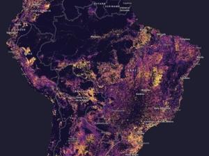 Świat za 30 lat na mapie Esri <br /> Mapa wrażliwości terenu