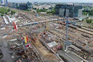 Drony monitorują inwestycje PLK <br /> Dworzec Warszawa Zachodnia w budowie (fot. Paweł Mieszkowski)