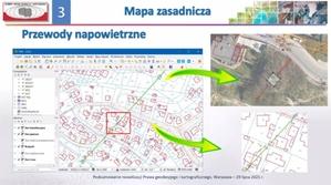 Rozporządzenie ws. BDOT500 i mapy zasadniczej opublikowane <br /> Zmiana prezentacji przewodów napowietrznych na mapie zasadniczej (źródło: fragment prezentacji GUGiK)