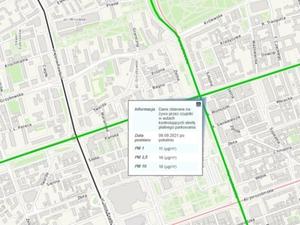 Mobilny pomiar jakości powietrza w stołecznym serwisie mapowym