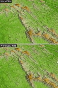 WorldDEM Neo - nowy globalny numeryczny model terenu <br /> Porównanie WorldDEM i WorldDEM Neo