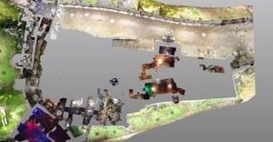 Laserowe odkrycia na Zamku Czocha <br /> Przekrój przez dolne pomieszczenia zamku