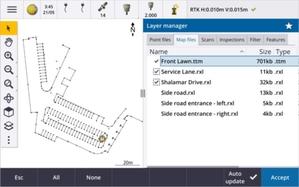 Nowe narzędzia pomiarowe w Trimble Access 2021.10 <br /> Menedżer warstw