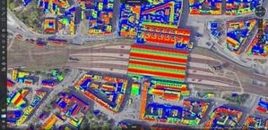 Katowice na zdjęciach lotniczych i modelach 3D <br /> Mapa potencjału słonecznego