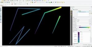 Nie tylko etykiety, czyli co nowego w QGIS 3.20 <br /> Efekt działania narzędzia interpolacji linii