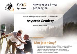 PKIG Sp z o.o. | Warszawa Asystent Geodety  Prace terenowe