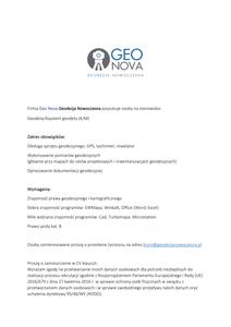 Zatrudnię asystenta geodety